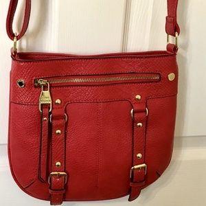 Steve Madden Red Leather Crossbody Purse Bag  F